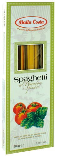 Spaghetti Pomodoro e Spinaci 500g Dalla Costa