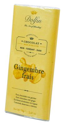 Dolfin Chocolat noir au gingembre frais 70g