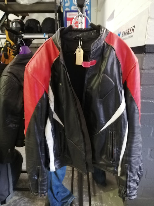 Jackets - Unknown brand - leather, red and black - 4xl