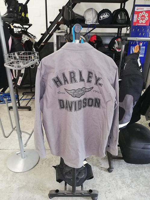 Harley Davidson fashion shirt, Grey, Large
