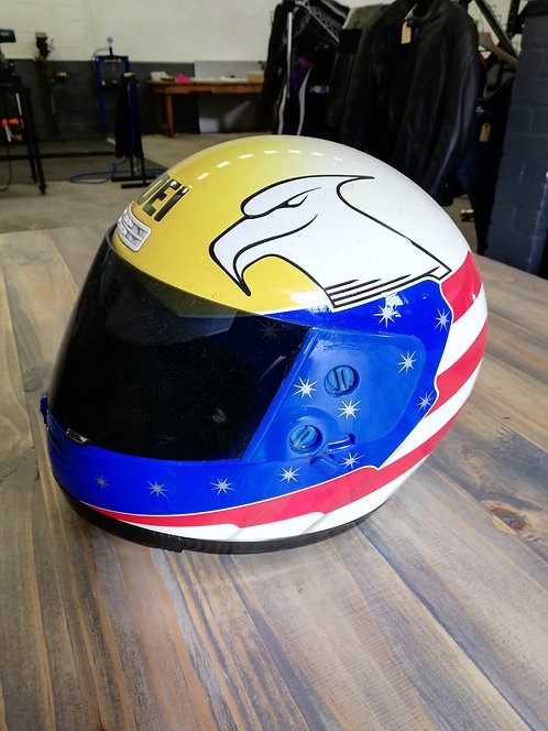 Helmet - Shoei - American yellow, blue, red - small