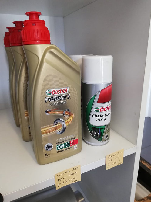 Castrol Oil & Racing chain lube