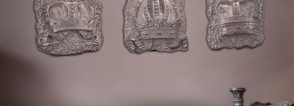 Crown on Stone set of 3