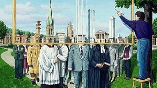 инсталляция в большом городе  - люди не знают сами себя