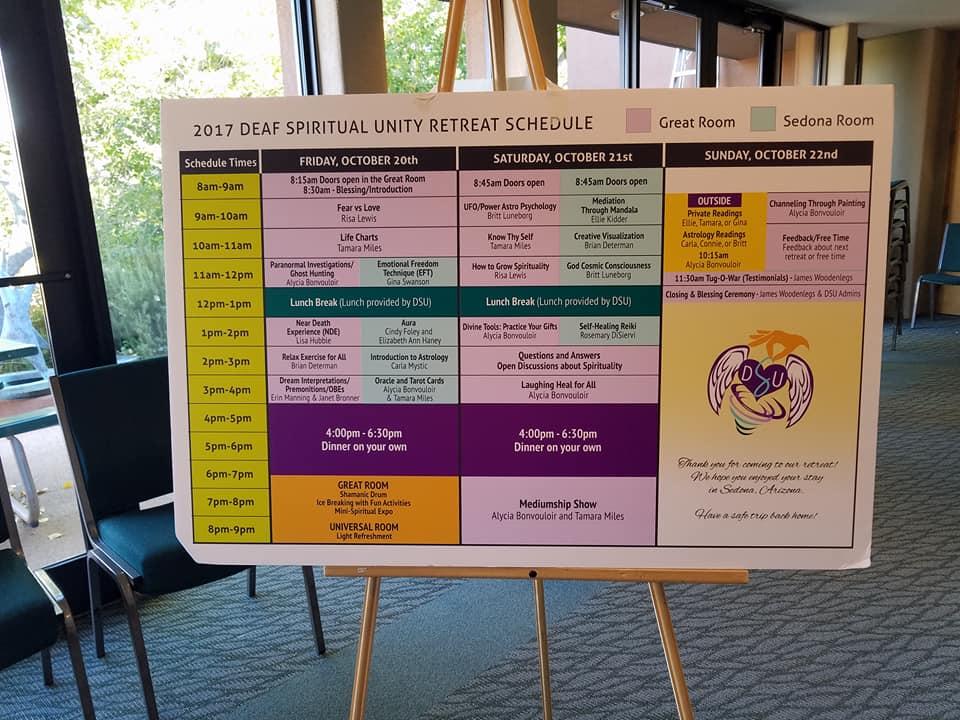 DSU Retreat Schedule