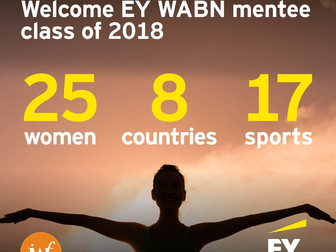 Angel selected for the 2018 EY Women Athletes Business Network Mentoring Program!
