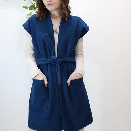 Colete Lã Azul