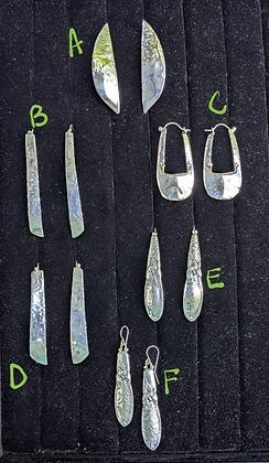 Earrings, Flats, Set 2