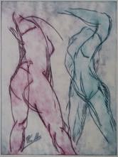 tanzend (weiblicher Akt)