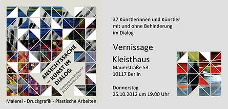 (k) Kleisthaus Berlin - Einladungskarte