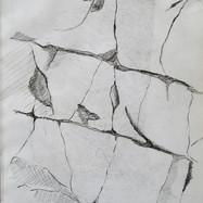 skizzierte Felsstruktur 1