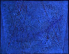 rote Struktur im Blau