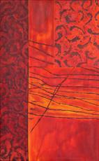 Farbraumstruktur in rot 2