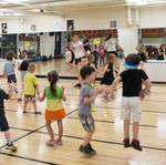 Group games in the gym