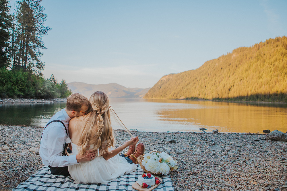 Lakeside Elopement Picnic