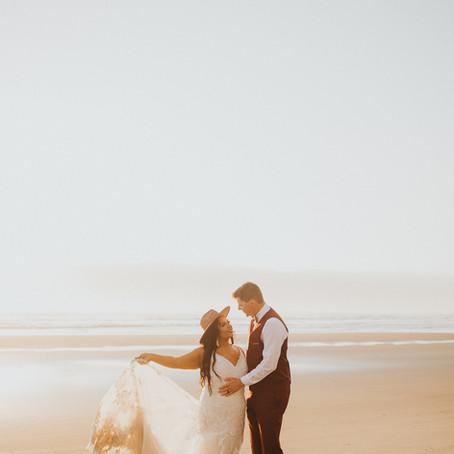 Rockaway Beach Oregon Coast Vow Renewal - Oregon Elopement Photographer