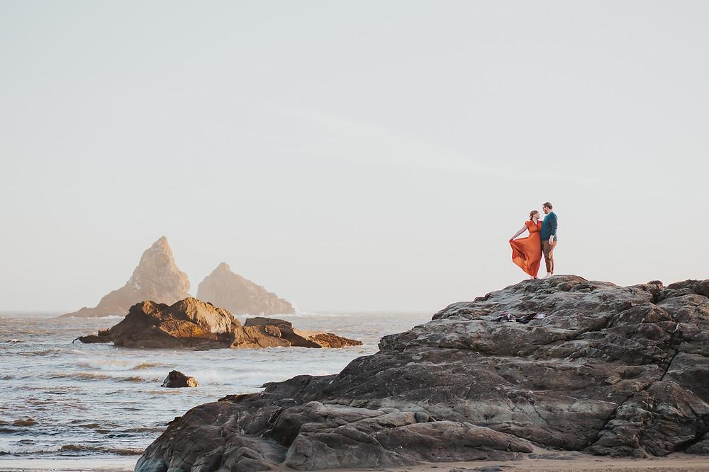 Brookings, OR Beach Engagement