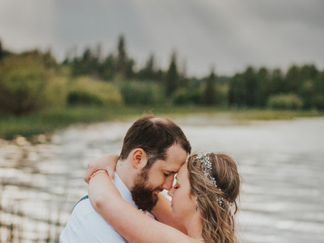 North Idaho Stormy Lakeside Bridals