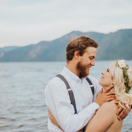 Idaho Lakeside Engagement Photos