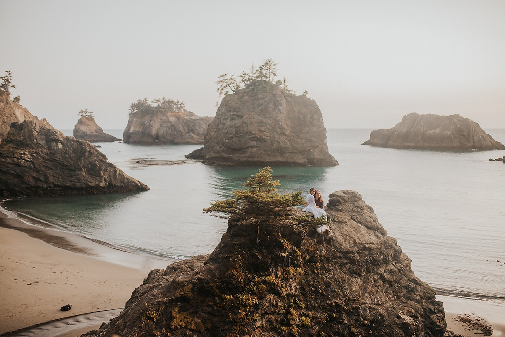 Brookings, OR Beach Elopement