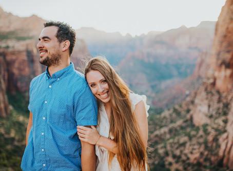 Couple Photos - Zion National Park
