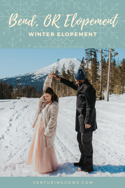 Bend, OR Winter Elopement