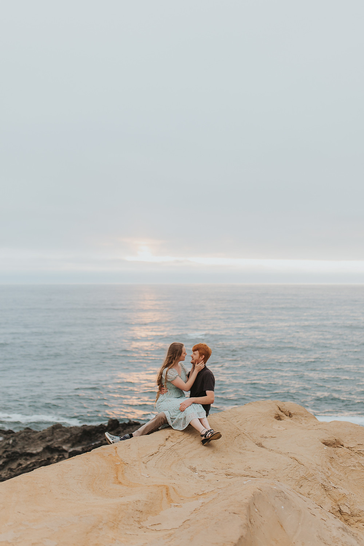 Oregon Coast Engagement Photos