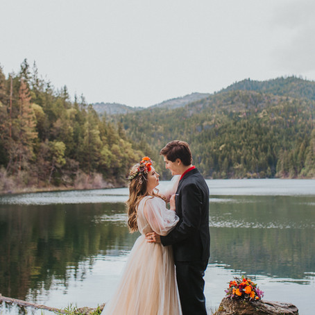 Southern Oregon Lakeside Elopement - Oregon Elopement Photographer