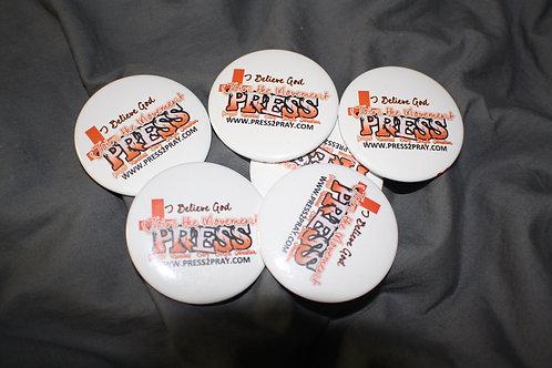 "2.25"" PRESS logo Buttons (Set of 10)"