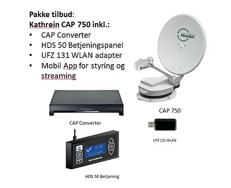 Kathrein CAP 750 - Twin, helautomatisk parabol m/HDS 50 betjening og UFZ131 WLAN
