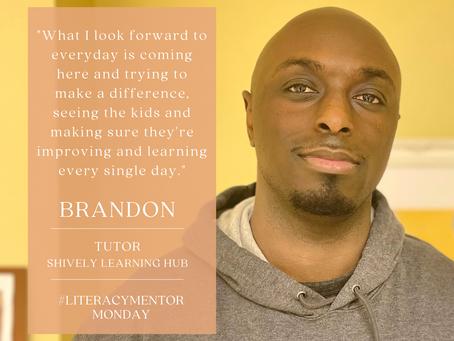 Literacy Mentor Monday: Brandon