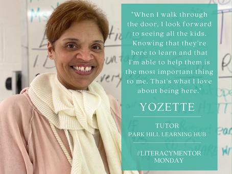 Literacy Mentor Monday: Yozette
