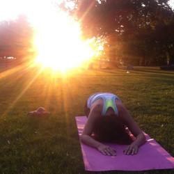 sunset yoga event in roundwood par