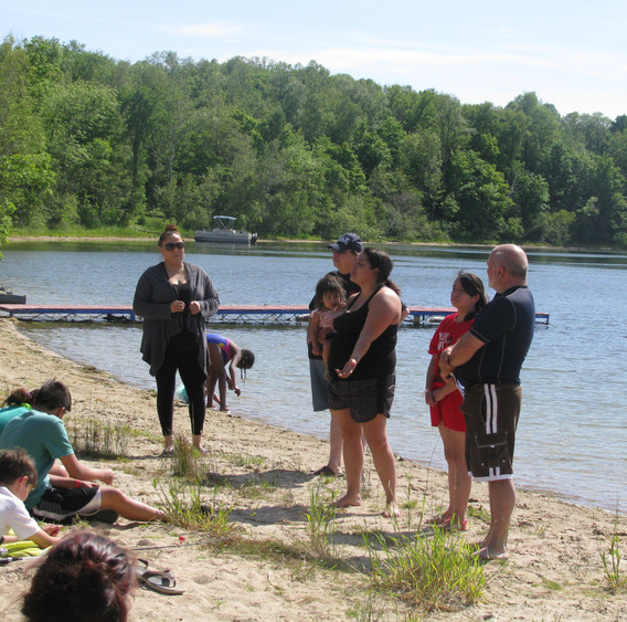 Baptism at Camp Dellwater in Minnesota