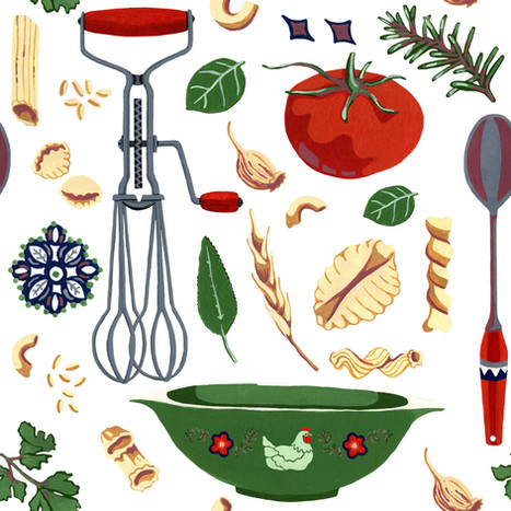 Vintage Cooking - Fabric