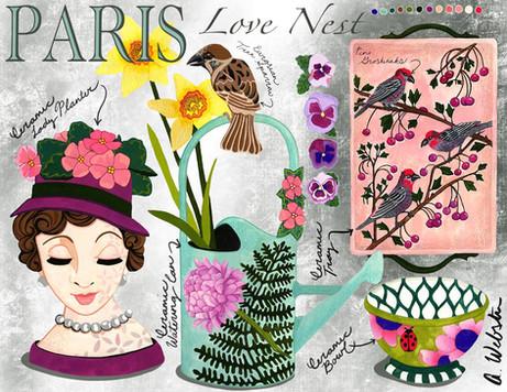 Paris Love Nest Ceramics