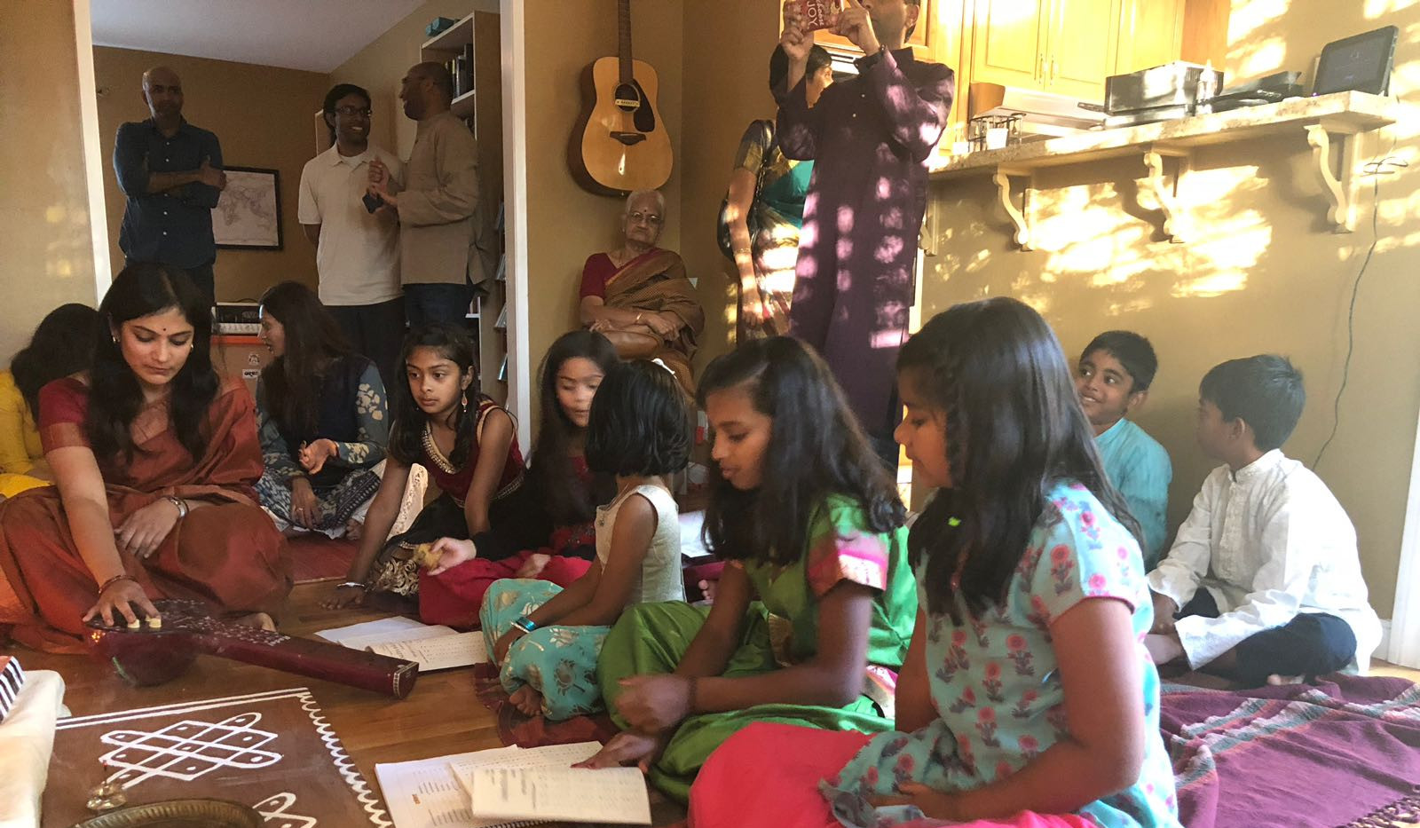 The Raga Monsters - singing at a Golu