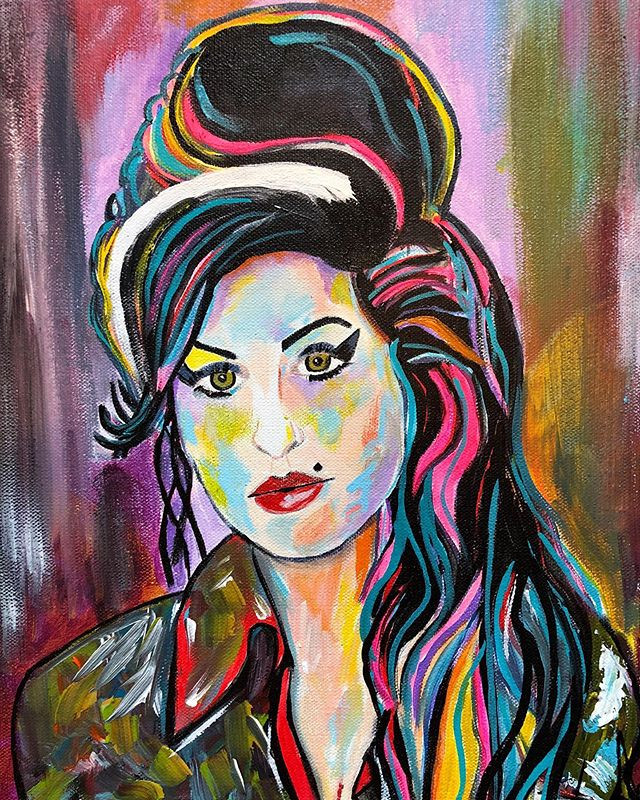 Colorful  Acrylic on Canvas  12x16 - - -