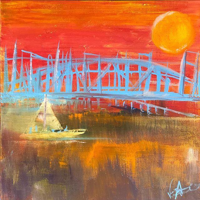 A Bridge Too Far 12x12 Acrylic on Canvas