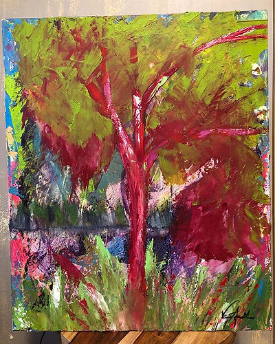 """...the forest for the trees."" Acrylic a"