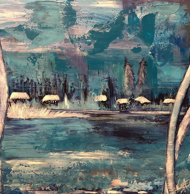 The Blues Acrylic on Canvas  24x24 Now A