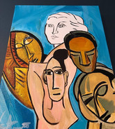 Picasso's Women Acrylic on Canvas 11x14