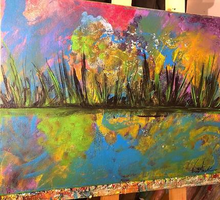 Floating Back to Summer... 12x16 Acrylic