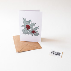 December Holly Card