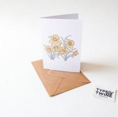 March Daffodil Card