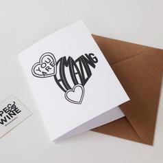 Amazing Type Hearts Card