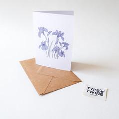 February Iris Card