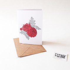 November Chrysanthemum Card
