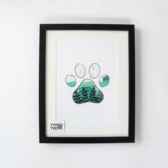 Countryside Footprints - Paw Print