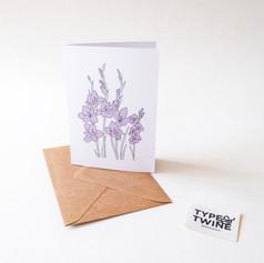 August Gladiolus Card
